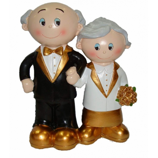 50 jarig huwelijk poppetjes