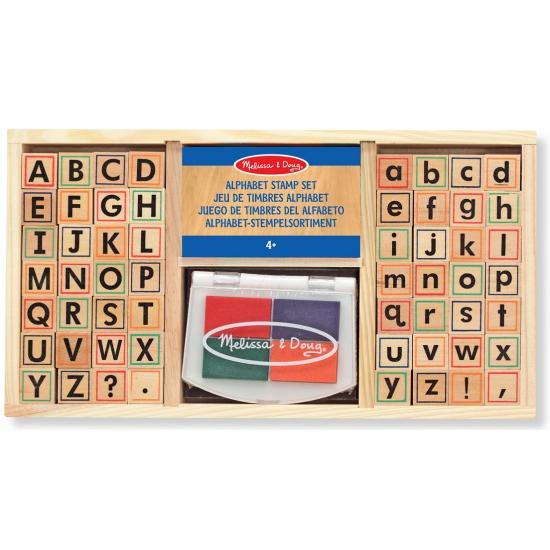 57 delige stempelset alfabet