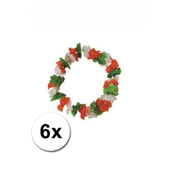 6 Hawaii bloemenkransen