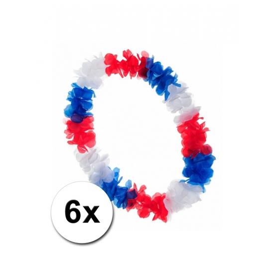 6 Hawaii kransen rood wit blauw