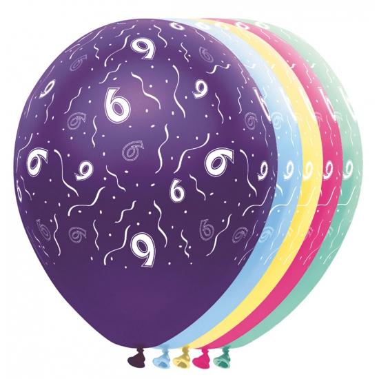 6 jaar versiering helium ballonnen