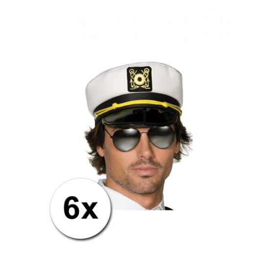 6 kapiteinspetten voor volwassenen