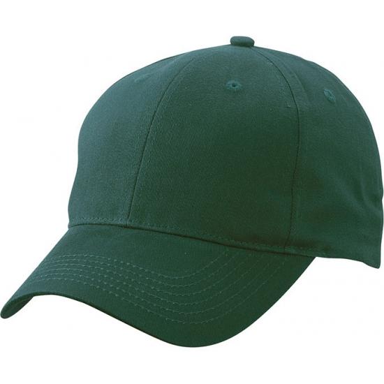 6 paneels baseball cap donkergroen