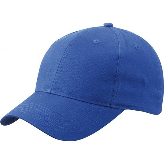 6 paneels baseball cap kobalt blauw