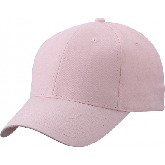 6 paneels baseball cap lichtroze