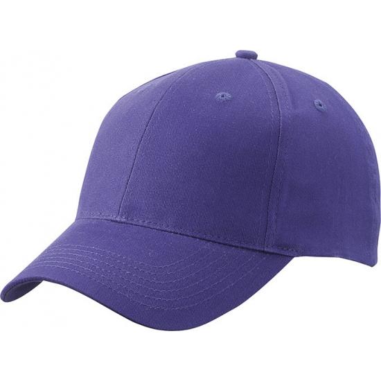 6 paneels baseball cap paars