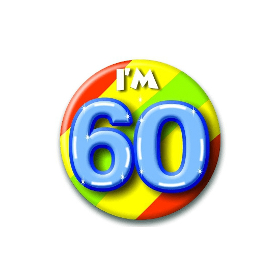 60 jaar button