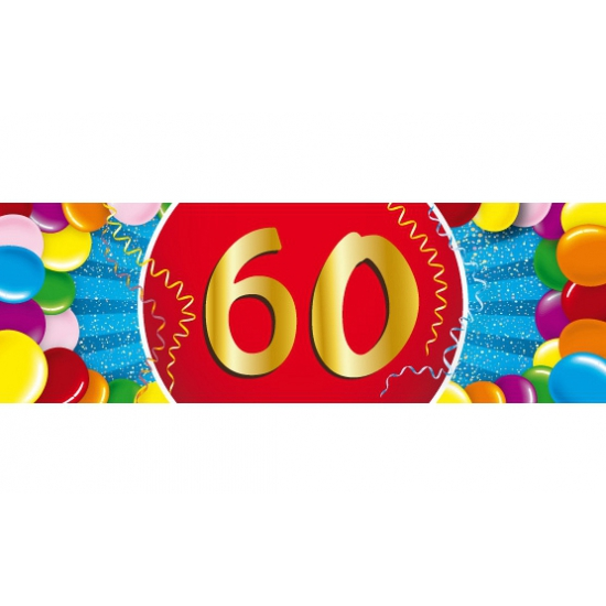 60 jaar sticker