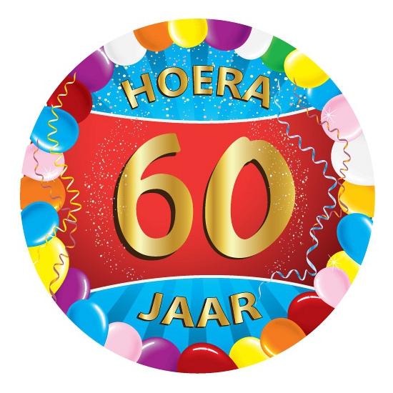 60 jaar verjaardag party viltjes
