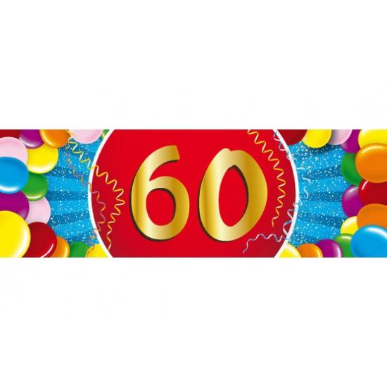 60 jaar versiering sticker