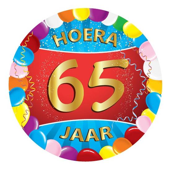 65 jaar verjaardag party viltjes