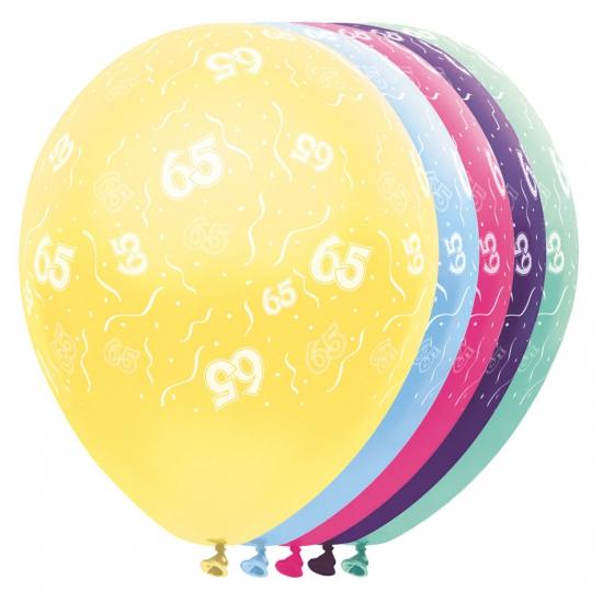 65 jaar versiering helium ballonnen