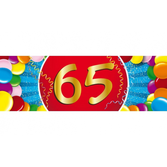 65 jaar versiering sticker