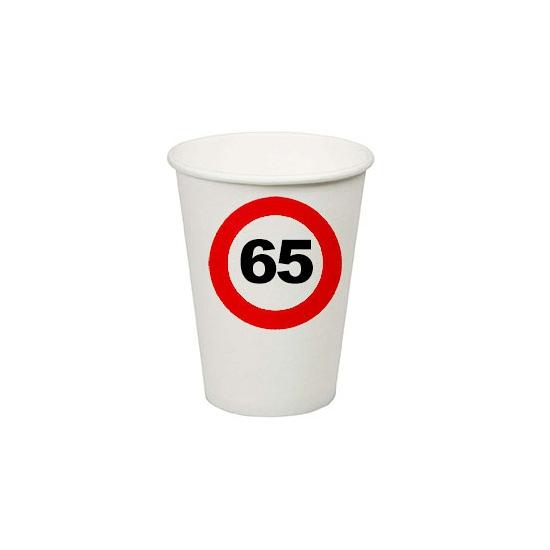 65e verjaardag party bekertjes