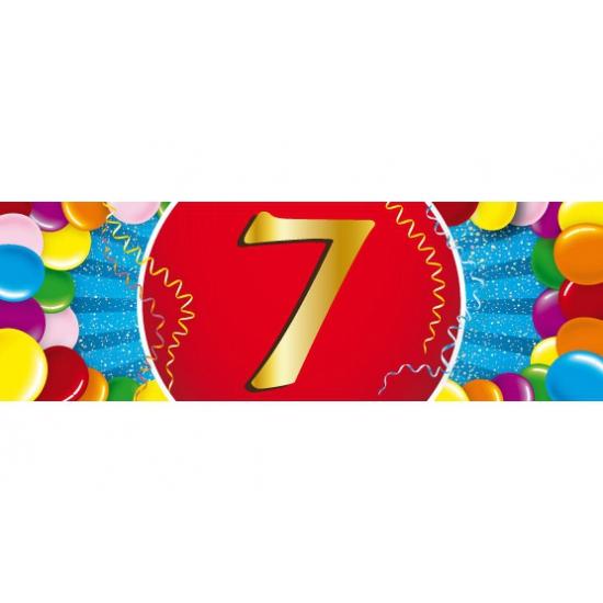 7 jaar versiering sticker