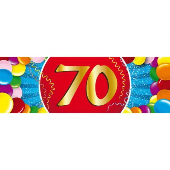 70 jaar versiering sticker