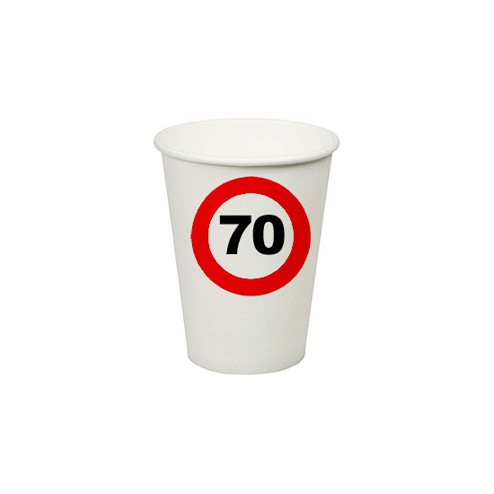 70e verjaardag party bekertjes