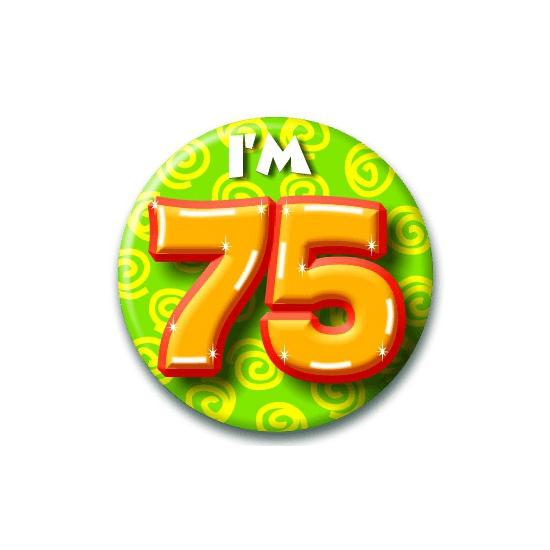 75 jaar button