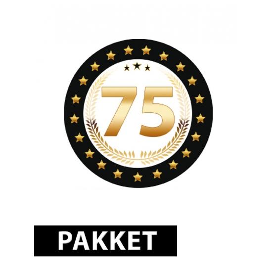 75 jaar decoratie pakket