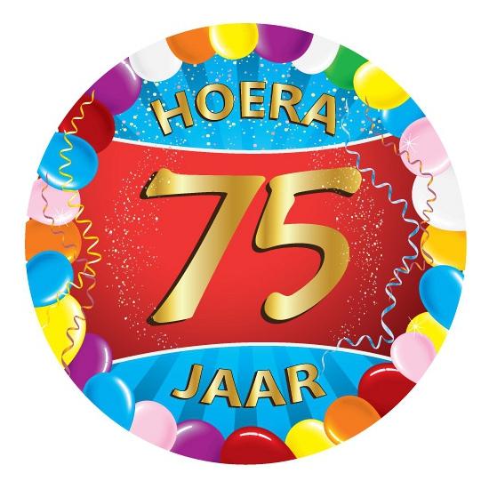 75 jaar verjaardag party viltjes