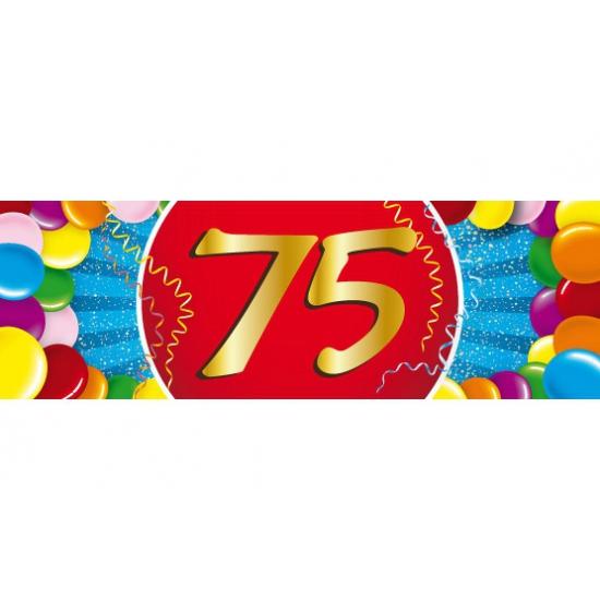 75 jaar versiering sticker