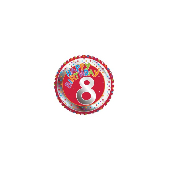 8 jaar helium ballon Happy Birthday