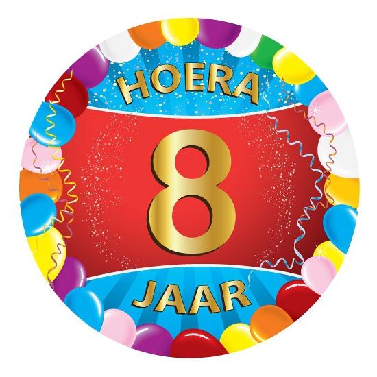 8 jaar verjaardag party viltjes