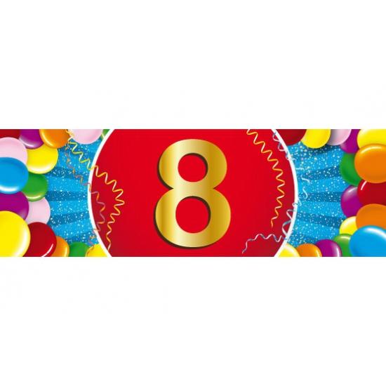 8 jaar versiering sticker