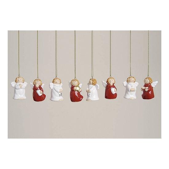 8 kerst ornamenten engeltje