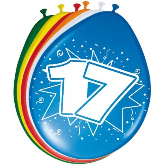 8 stuks ballonnen 17 jaar