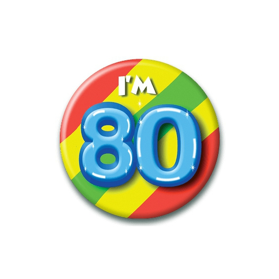 80 jaar button