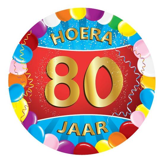 80 jaar verjaardag party viltjes