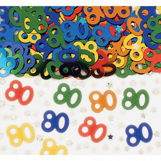 80e verjaardag confetti