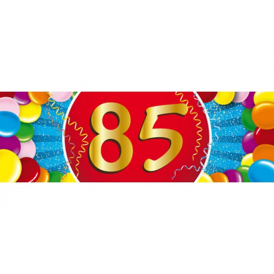 85 jaar sticker