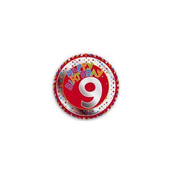 9 jaar helium ballon Happy Birthday