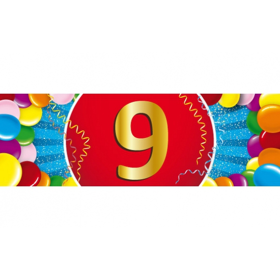 9 jaar versiering sticker