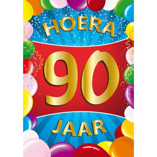 90 jaar thema mega deurposter