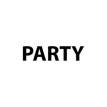 Aanduiding sticker Party