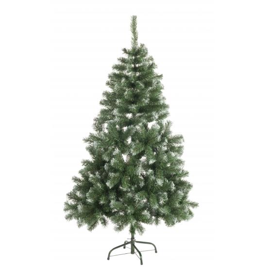 Abies kerstboom met witte uiteinden 120 cm