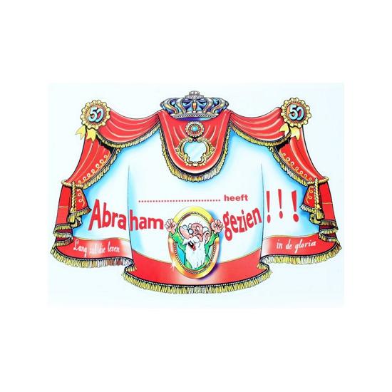 Abraham kroonschild karton