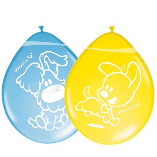 Acht Woezel en Pip ballonnen
