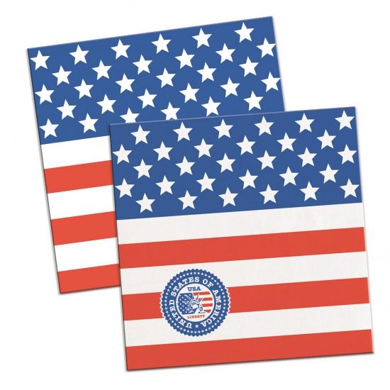 Amerikaanse feest servetten 20 stuks