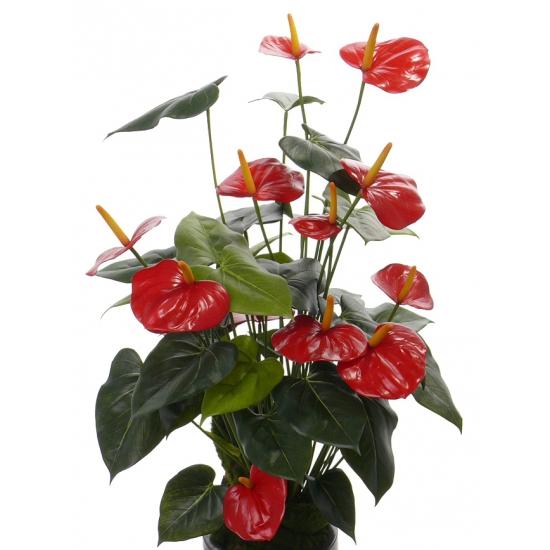 Anthurium kunstplant rood 80 cm