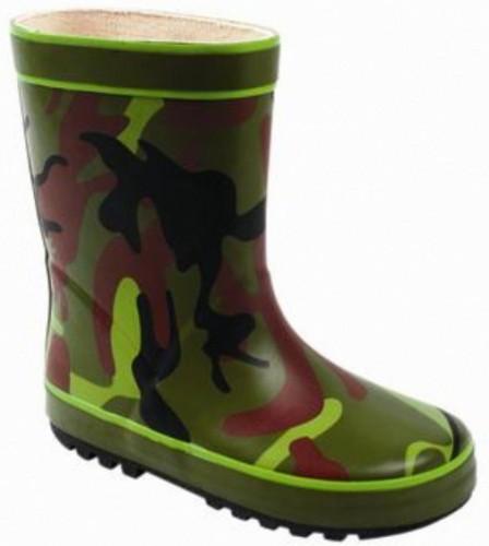 Army print regenlaarsjes voor kids