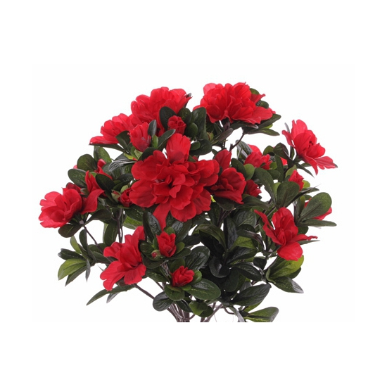 Azelea kunstbloem rood 20 cm