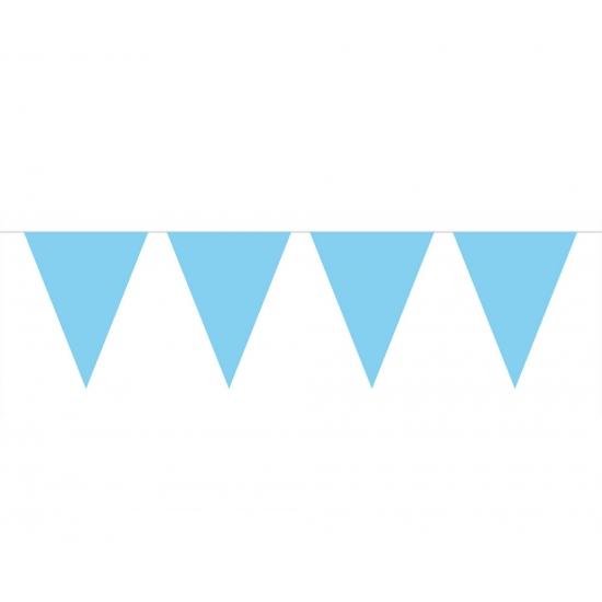 Baby blauwe slinger met vlaggetjes