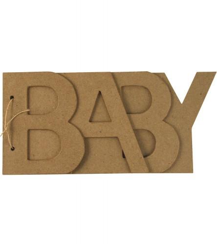 BABY letters boekje papier mache