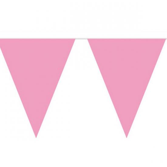 Baby roze slinger met vlaggetjes