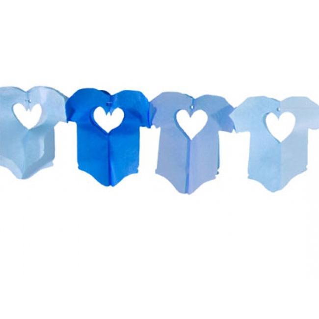 Baby slinger blauw 6 meter