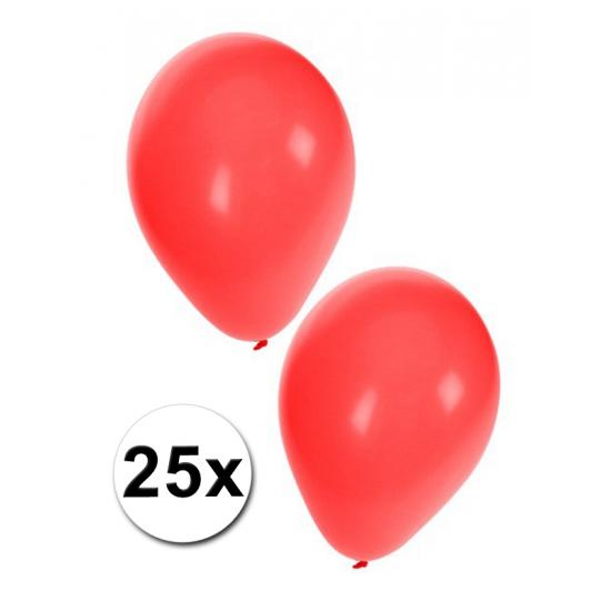 Ballonnen in het rood 25x